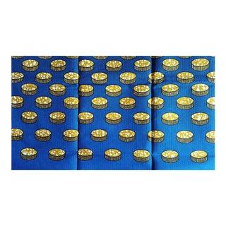 Blue African Print Fabric - 5 Yards