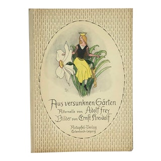 Vintage Children's Book With Flower Fairy Art For Sale