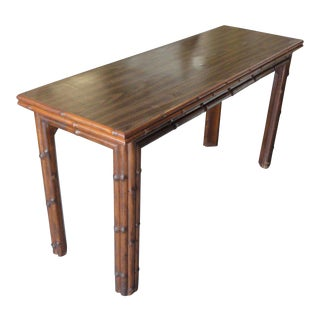 Ficks Reed Faux Bamboo Flip Top Table