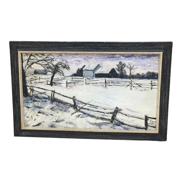 Winter Wonderland Landscape Painting For Sale