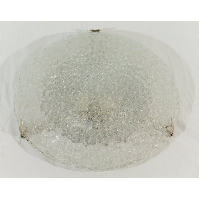 Textured Flush Mount with Chrome Hardware by Hustadt Leuchten For Sale - Image 4 of 9