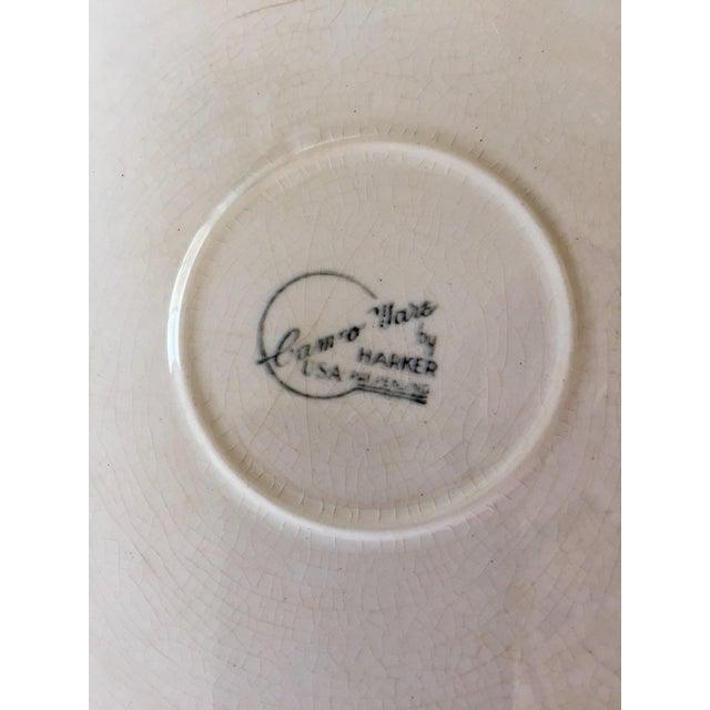 Springtime Vintage Harker Blue Cameo Ware Cake Plate For Sale - Image 4 of 5