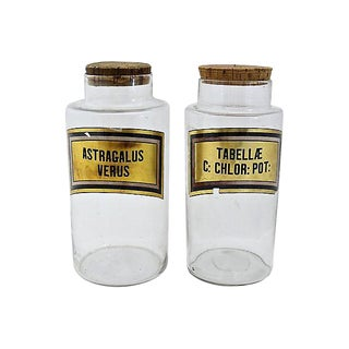 Antique French Apothecary Jars - Set of 2