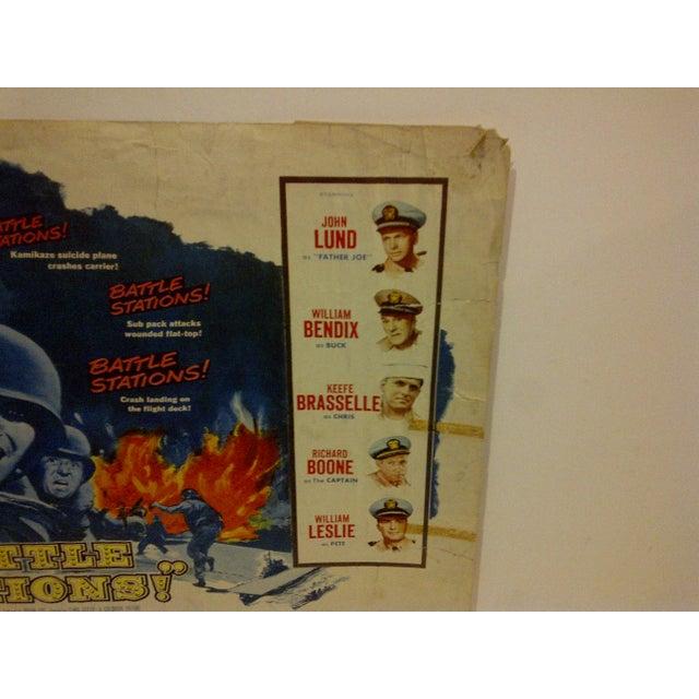 "1956 Vintage Movie Poster of ""Battle Stations"" For Sale - Image 5 of 6"