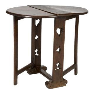 Small Scale English 18th Century Joined Oak Drop Leaf Table