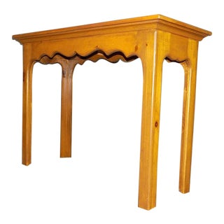 Habersham Plantation Country French Style Pine Console Table For Sale