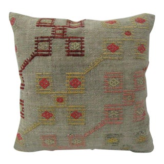 Handmade Vintage Kilim Pillow Cover For Sale