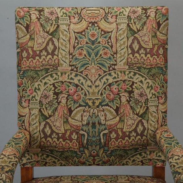 Textile French 19th Century Bergere Covered In Old World-Style Tapestry For Sale - Image 7 of 8