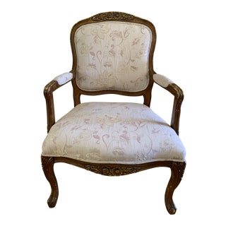 Paris Apartment Vintage French Provincial Armchair For Sale