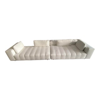 Minotti Freeman Tailor Sofa Daybed Element + Armrest Element For Sale