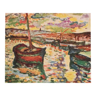 "1948 Georges Braque, Original Period Parisian Lithograph ""The Boats"" For Sale"