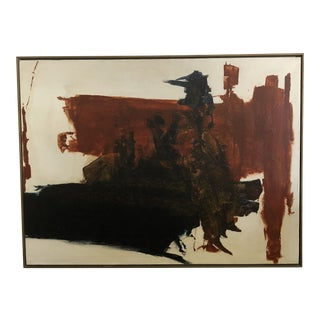 1970s Abstract Oil on Canvas Painting