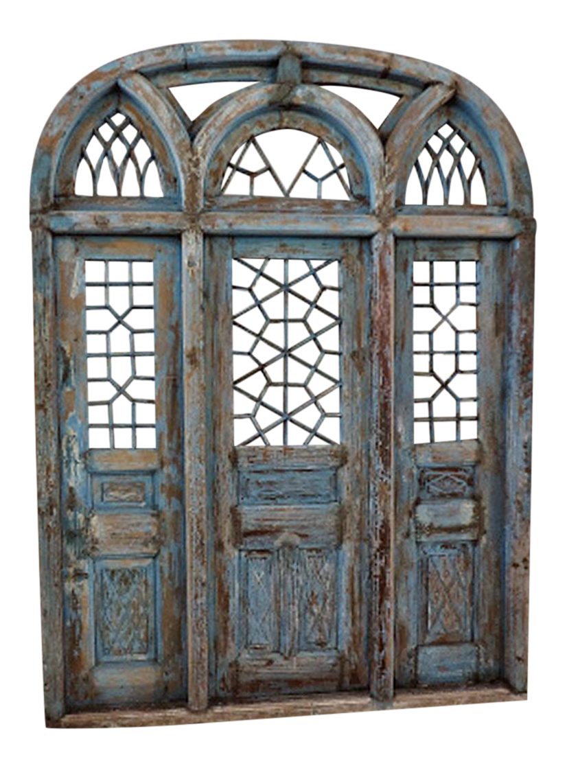 Rustic Blue Jodhpur Church Door With Mirror  sc 1 st  Chairish & Vintage \u0026 Used Asian Antique Doors and Gates | Chairish