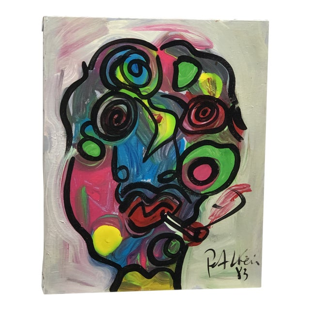 "1980's ""Colorful Boy"" Peter Keil Painting For Sale"