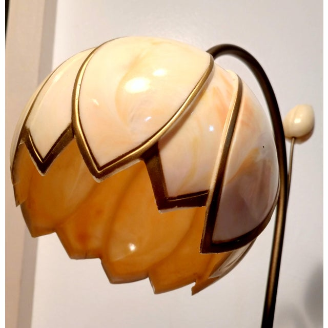Mid-Century Faux Slag Tulip Desk Lamp - Image 5 of 7