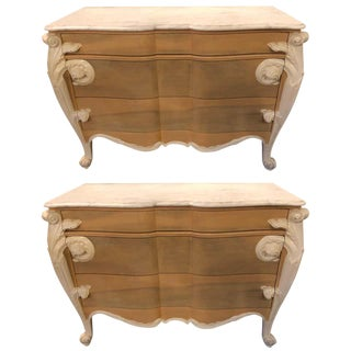 Hollywood Regency Louis XV Commodes, Nightstands or Dressers by Casaragi a Pair For Sale
