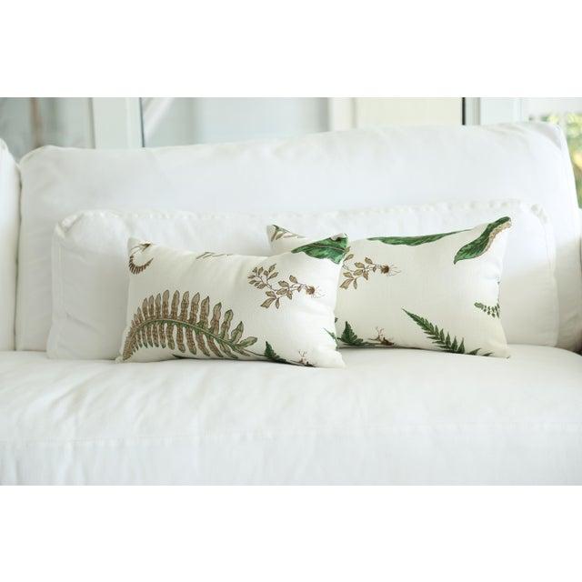 Stensöta (Fern) Textile Lumbar Pillows - a Pair 10 X 18 For Sale - Image 4 of 6