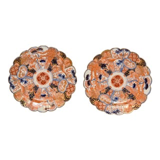 Pair of Late 19th C Imari Plates For Sale