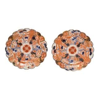 Pair of Late 19th Century Imari Plates For Sale