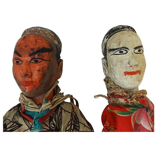 Folk Art Theater Opera Doll Puppets - A Pair - Image 4 of 6