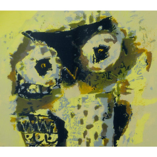 Mid-Century Owl Paintings - A Pair - Image 6 of 10