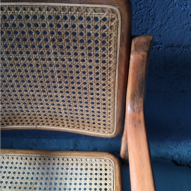 Danish Modern Bentwood Cane Chairs - Set of 6 - Image 9 of 11