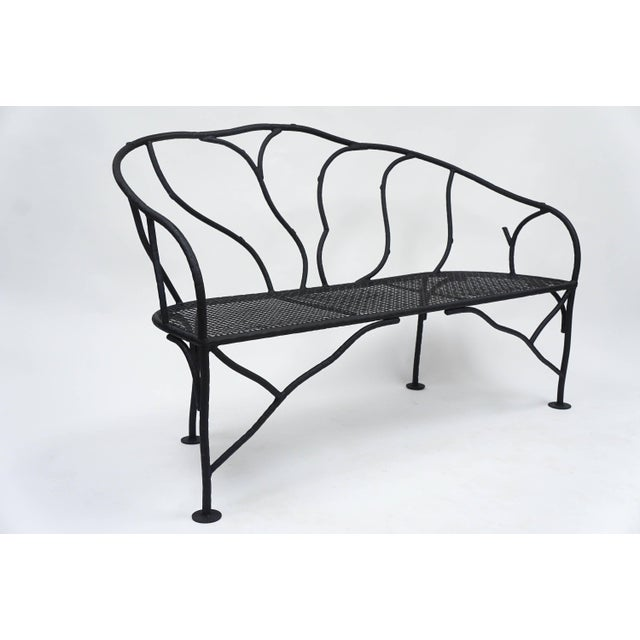 Super Faux Bois Wrought Iron Garden Bench Cjindustries Chair Design For Home Cjindustriesco
