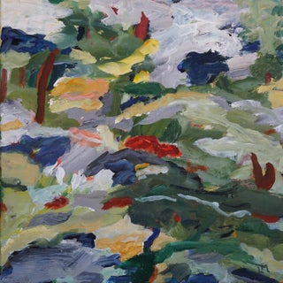 "Abstract Laurie MacMillan ""Wildland Interface"" Landscape Painting Preview"