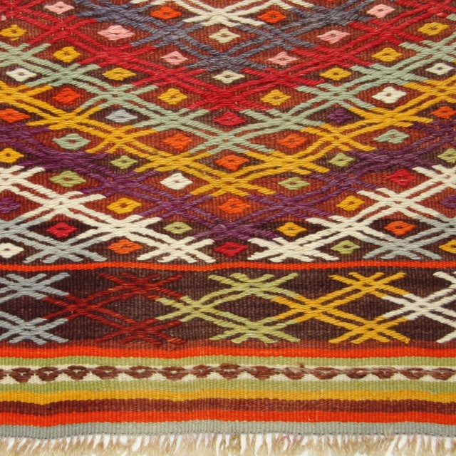 Vintage Turkish Kilim - 3'2 X 3'7 - Image 3 of 3