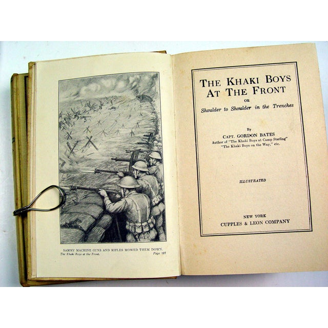 The Khaki Boys WWI Adventure 1910 Book- Set of 3 - Image 3 of 3