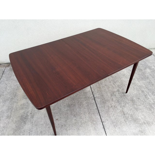 Mid-Century Expandable Walnut Dining Table - Image 6 of 11