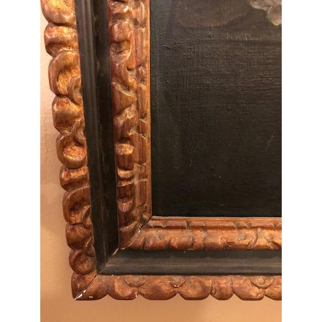 19th Century Oil on Canvas Still Life Signed with Label in an Ebony & Gilt Frame For Sale In New York - Image 6 of 10