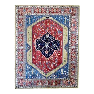 Modern Handmade Serapi Design Rug- 9′ × 12′ For Sale