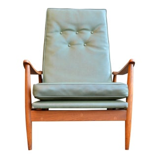 Mid Century Modern Milo Baughman Recliner Chair for James For Sale
