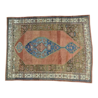 Early 20th Century Antique Handmade Original Persian Bakshaish Rug - 10′8″ × 14′1″ For Sale