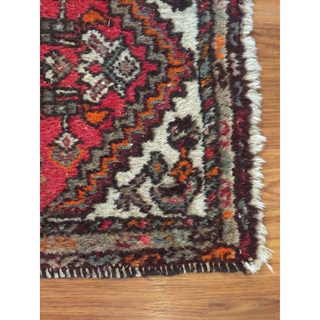 """Vintage Wool Rug - 35.5"""" X 22.5"""" - Image 3 of 6"""
