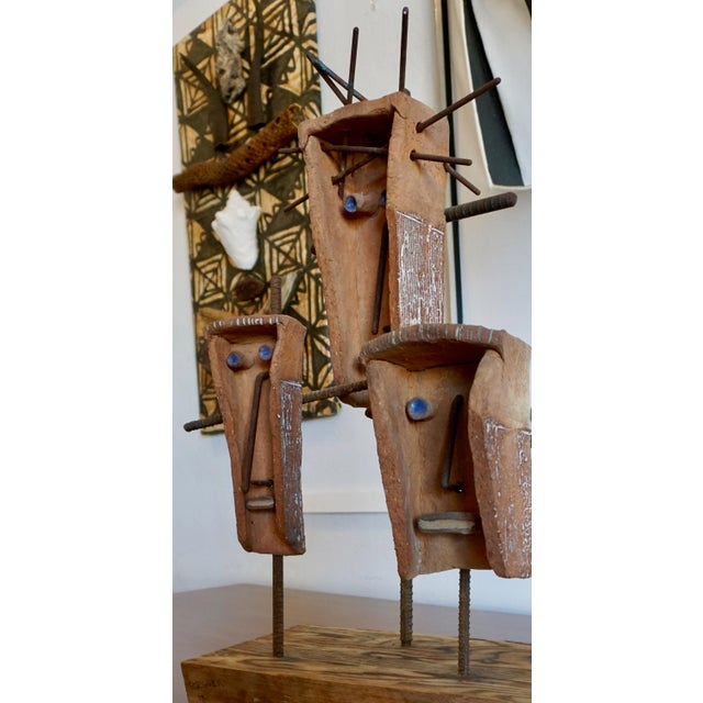 Black Hal Riegger Figurative Abstract Ceramic and Steel Sculpture For Sale - Image 8 of 9