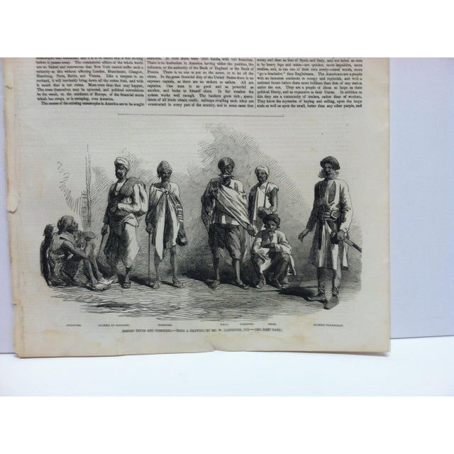 """English 1857 Antique Illustrated London News """"Hindoo Thugs and Poisoners"""" Print For Sale - Image 3 of 5"""