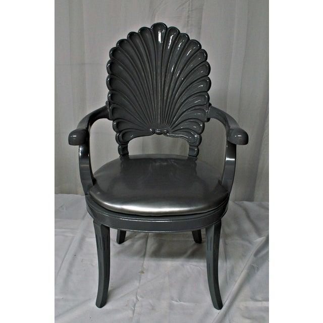 Silver Shell Armchair Chairish