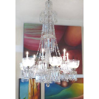 F. C. Osler English 19th Century Twelve-Arm Cut Crystal Gas Chandelier By Preview