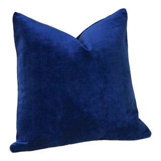 Sapphire Blue Velvet Pillow Cover 16x16 For Sale