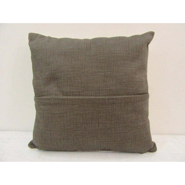 Contemporary Handmade Beige Turkish Kilim Pillow Cover For Sale - Image 3 of 4
