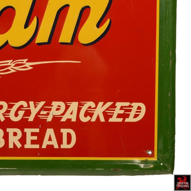 Vintage Sunbeam Bread Sign For Sale - Image 9 of 10