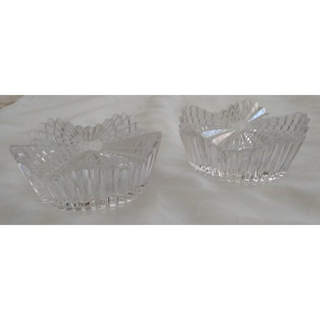 Crystal Vintage Cut Glass Candleholders - a Pair For Sale - Image 7 of 7