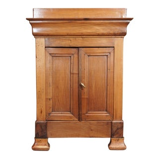 Miniature Walnut 2 Door Cabinet, 19th Century For Sale
