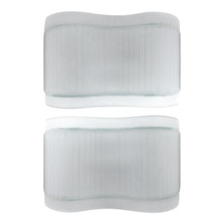 Frosted Glass Sconces From Artemide, Italy - A Pair For Sale