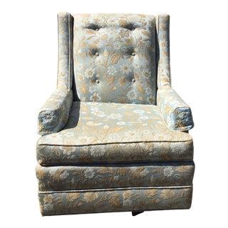 Mid-Century Modern Upholstered Swivel Rocker For Sale