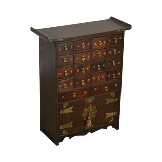 Asian Style Vintage Multidrawer Apothecary Chest For Sale