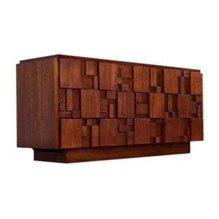 Lane Brutalist Dresser For Sale