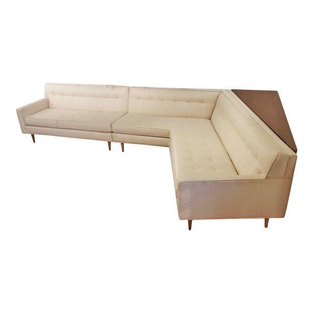 Mid-Century Modern Harvey Probber 'Nuclear Sert' Sectional Sofa and Console Table For Sale